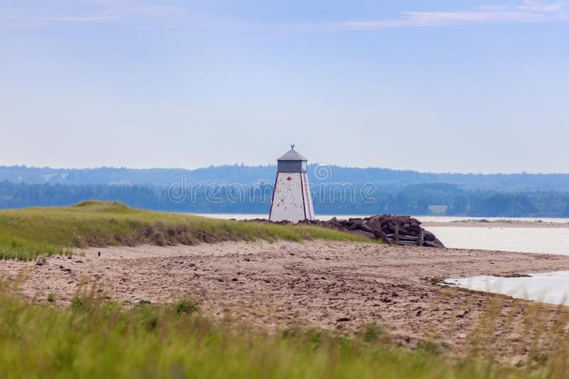 Murray Harbour Range Front Lighthouse on Prince Edward Island. Prince Edward Island, Canada stock image