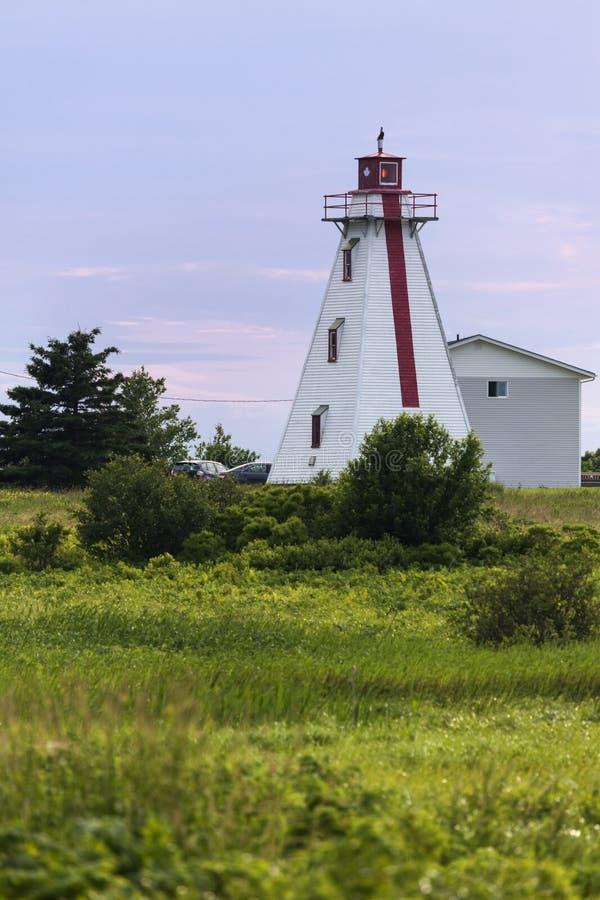 Murray Harbour Range Rear Lighthouse auf Prinzen Edward Island lizenzfreies stockfoto