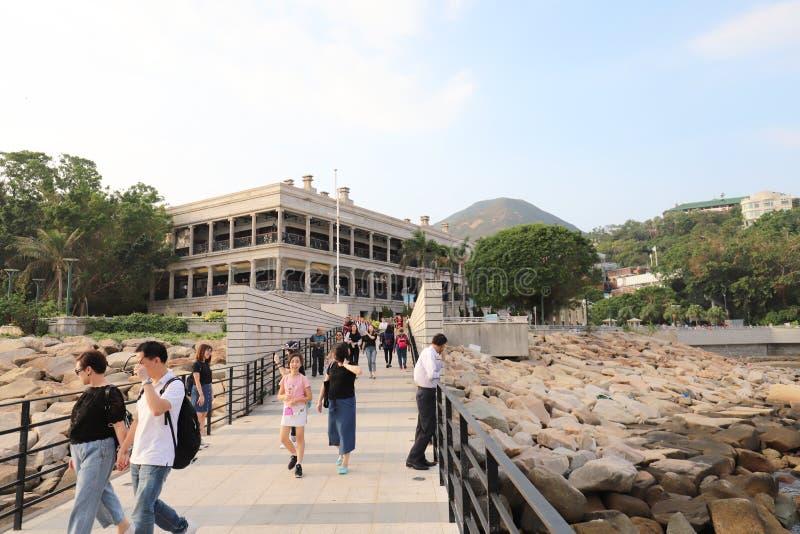 Murray House in Stanley Hongkong stock afbeelding