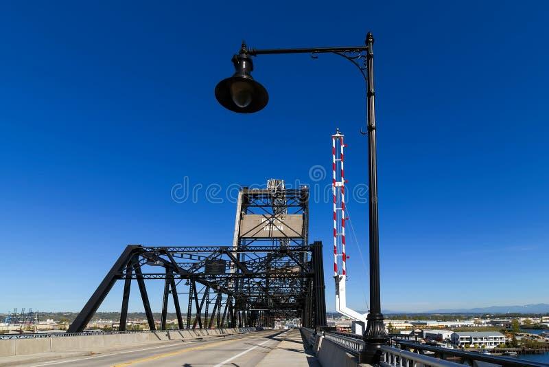 Murray Morgan Bridge a porto di Tacoma nello Stato del Washington fotografia stock libera da diritti