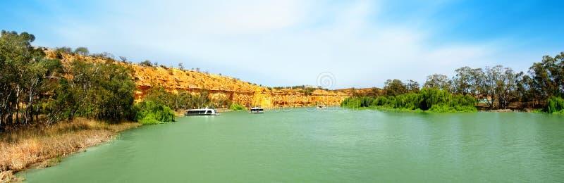 murray panorama- flod arkivfoto