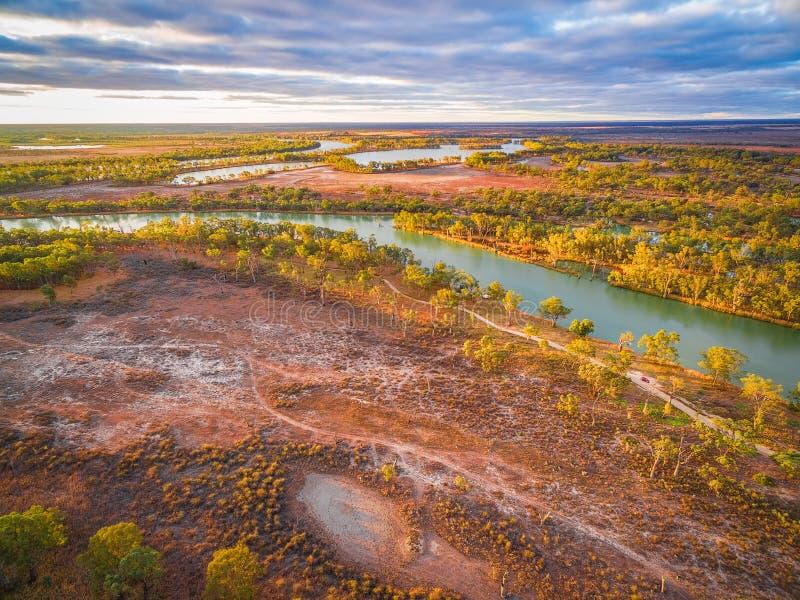 Murray River die door Zuid-Australië vloeien royalty-vrije stock fotografie