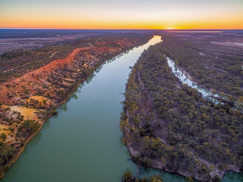 Murray rzeka przy zmierzchem zdjęcie stock
