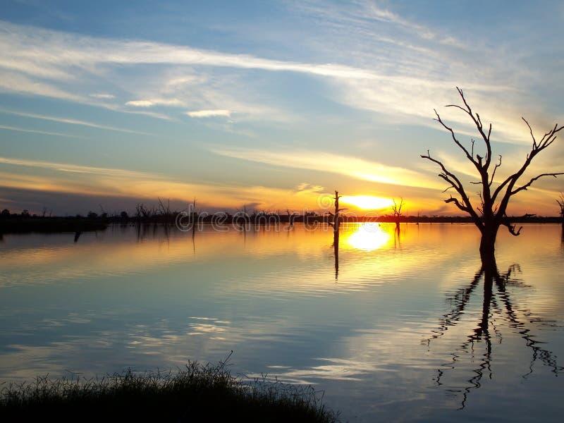 murray rzeki zmierzch zdjęcia stock
