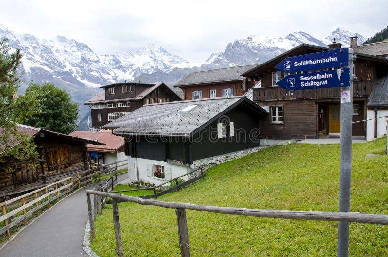 Murren Ελβετία στοκ φωτογραφία με δικαίωμα ελεύθερης χρήσης