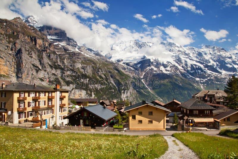 Download Murren in summer stock image. Image of alps, jungfrau - 26524399