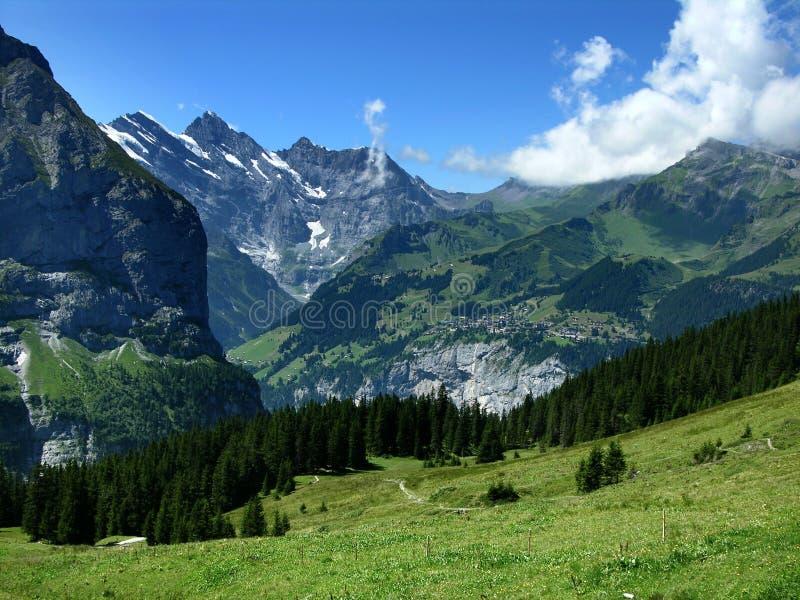 Murren in Switzerland stock image