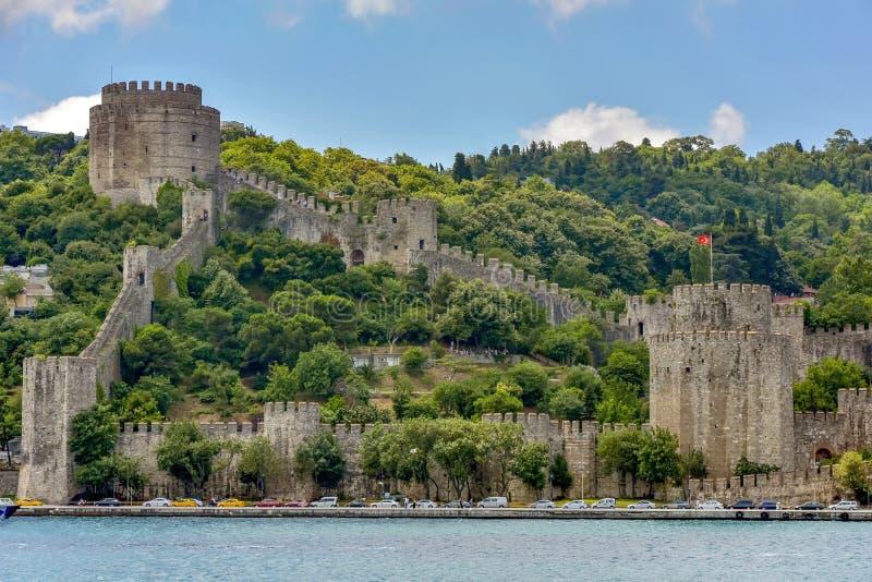 Murs antiques d'istambul du côté de Bosphorus photo stock