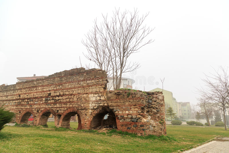 Murs bizantins à Brousse photo stock