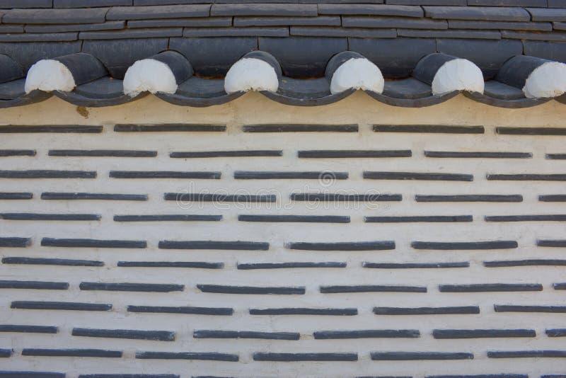 Murs coréens de type de la maison photos stock