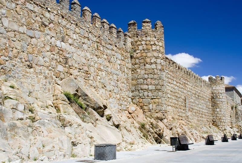 Murs d'Avila photographie stock libre de droits