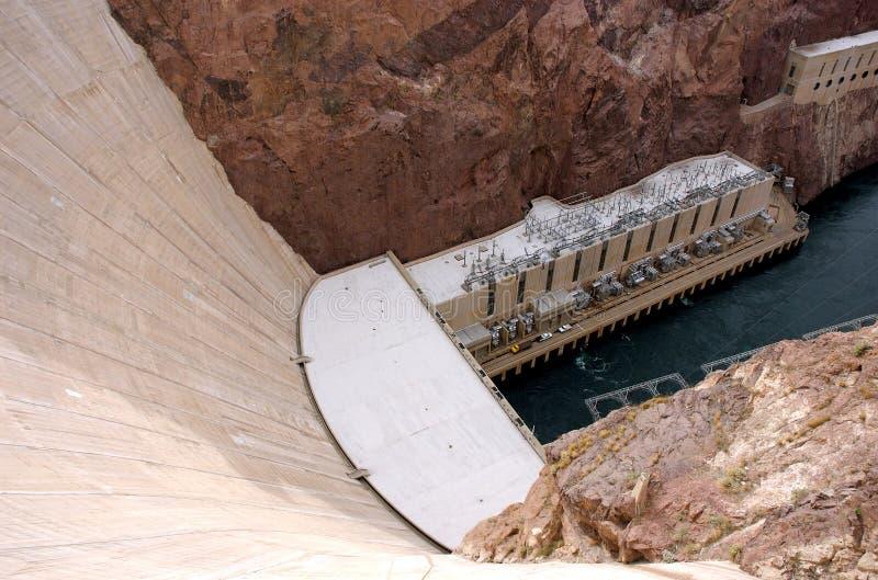 Murs de barrage de Hoover photographie stock libre de droits