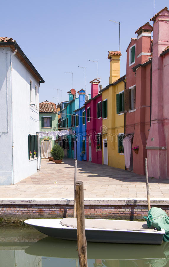 Murs de Burano, Venise photo stock