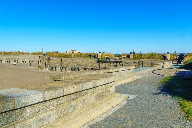 Murs de citadelle de Halifax photographie stock