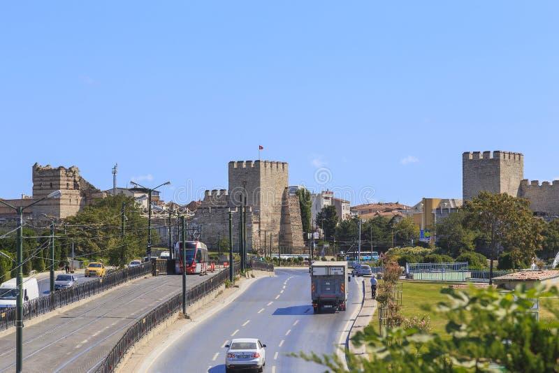 Murs de forteresse de Constantinople Theodosius Walls, Istanbul photos libres de droits