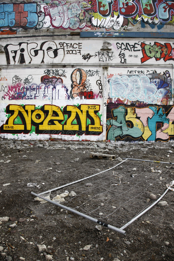 Murs de graffiti photo stock
