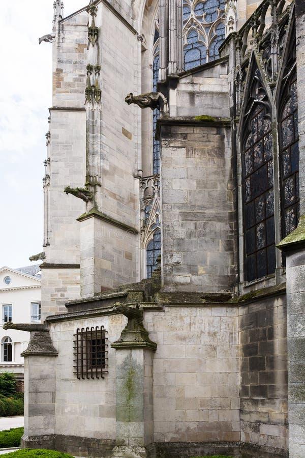 murs de la basilique du saint urbaine de Troyes image libre de droits