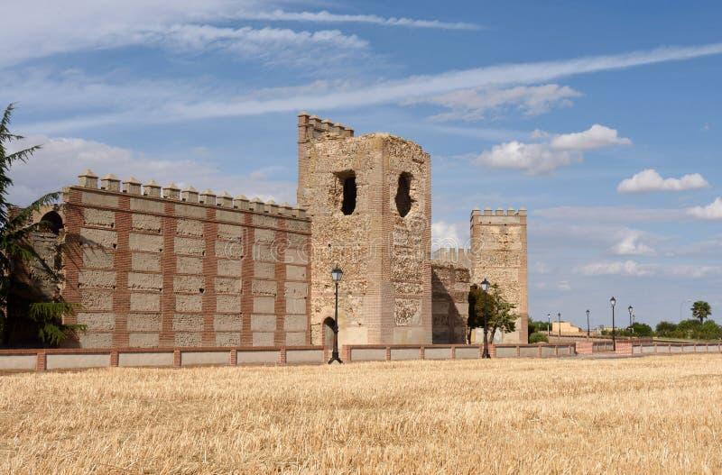 Murs de Madrigal de las Altas Torres, province d'Avila, photos libres de droits