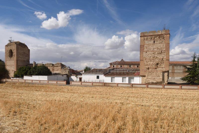 Murs de Madrigal de las Altas Torres, province d'Avila, images libres de droits