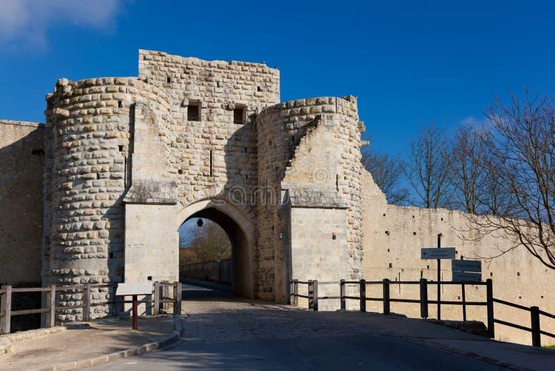 Murs de Provins photos stock