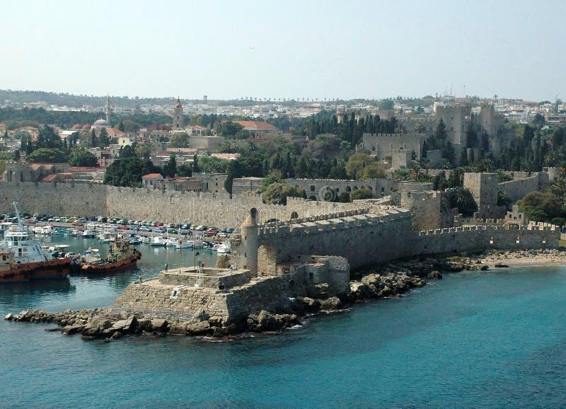 Murs de Rhodes photos libres de droits