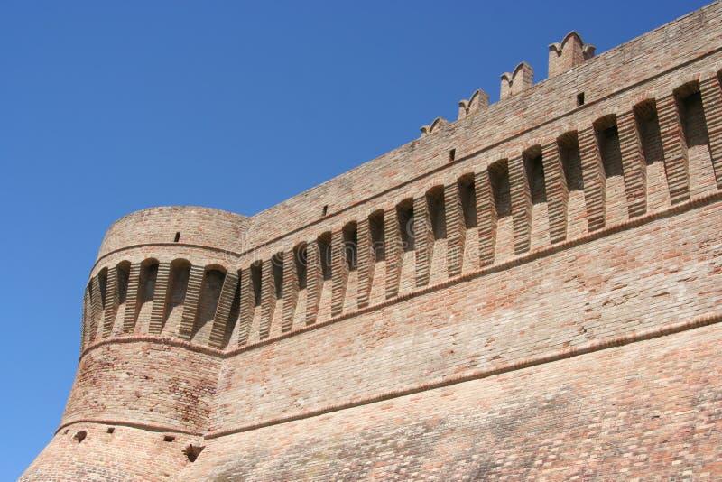 Murs de tour et d'Urbisaglia, Marche, Italie image libre de droits