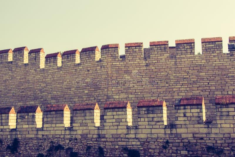 Murs de ville de Constantinople à Istanbul, Turquie photos libres de droits