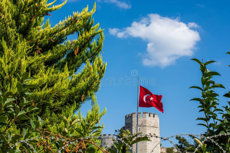 Murs de ville de Constantinople ? Istanbul, Turquie images stock