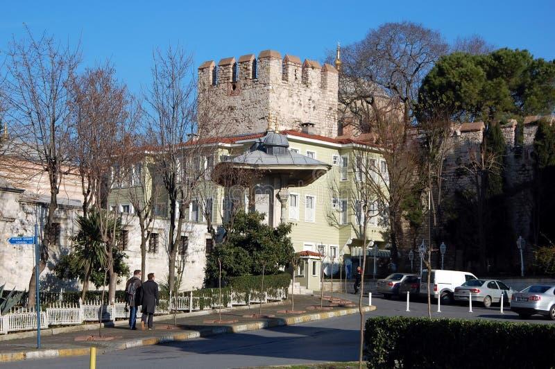 Murs de ville d'Istanbul photographie stock libre de droits