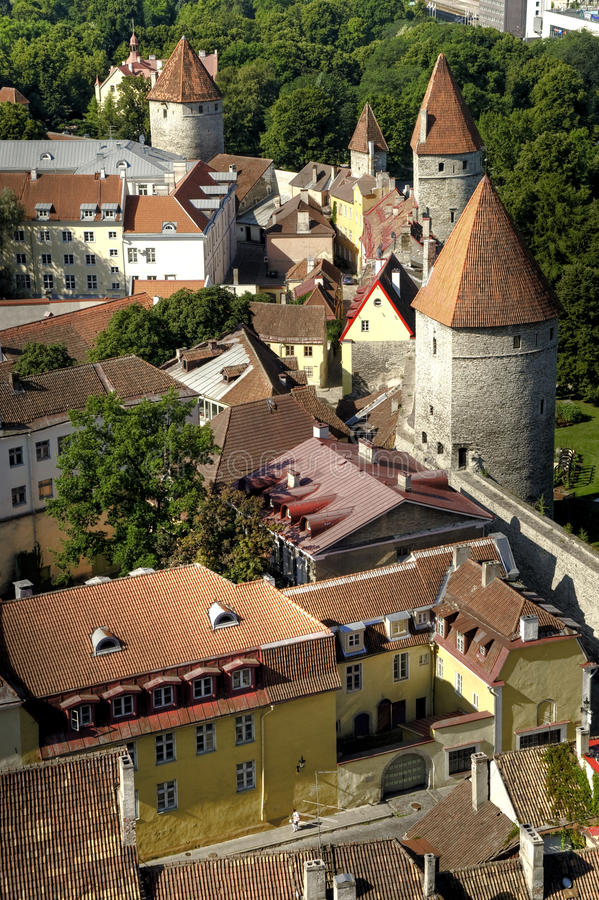 Murs de ville de Tallinn Estonie photographie stock