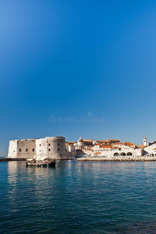Murs de ville de vieille ville de Dubrovnik image stock
