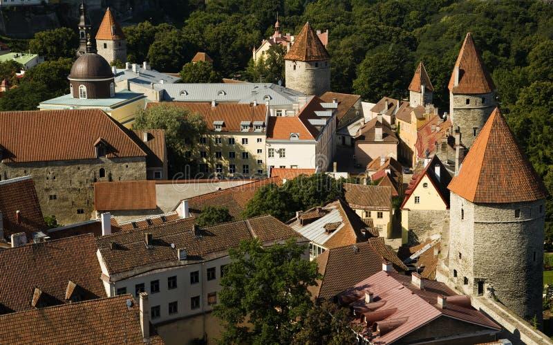 Murs de ville enrichis parEstonie de Tallinn photos stock