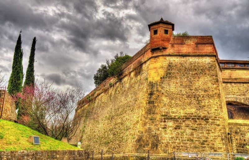 Murs du forte di Belvedere à Florence image libre de droits