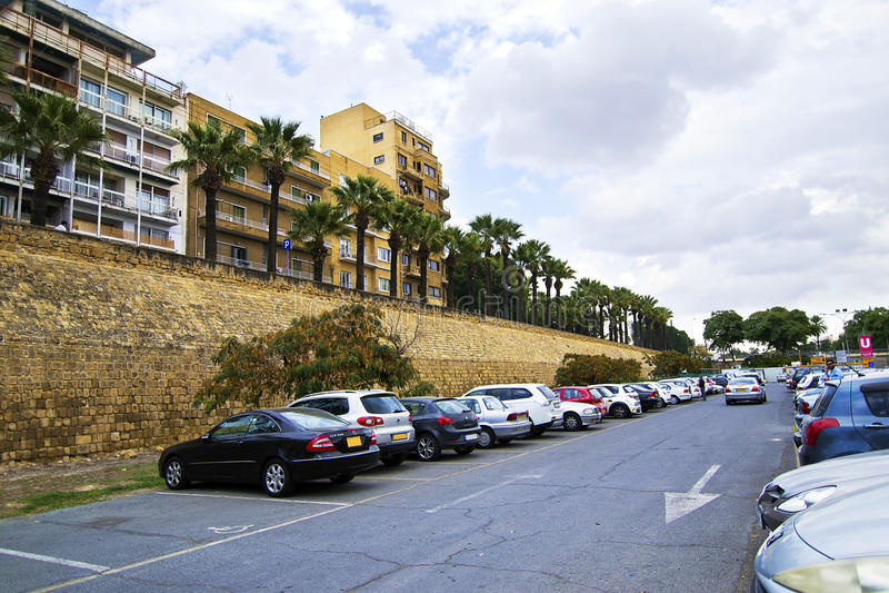 Murs médiévaux de Lefkosia Nicosie Chypre photographie stock libre de droits