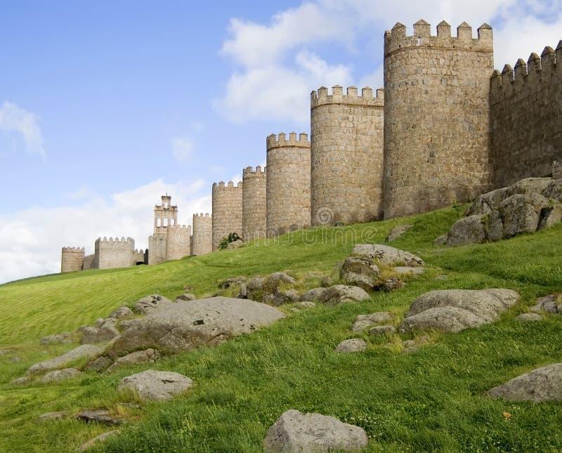 Murs médiévaux de ville images libres de droits