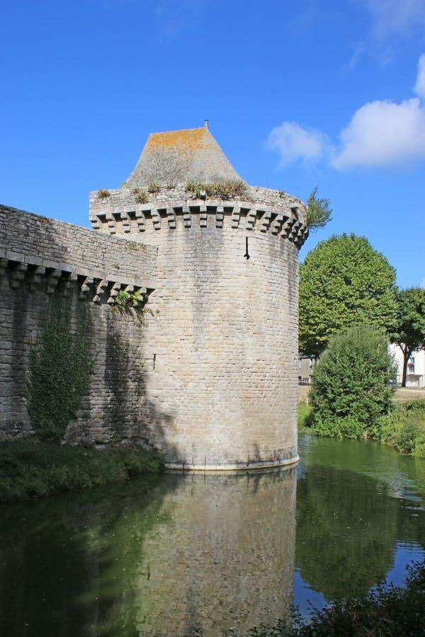 Murs médiévaux de ville, Guerande, France photographie stock libre de droits