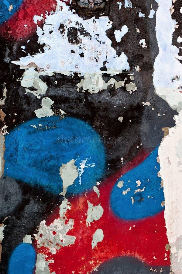 Murs peints par texture concrète cassée image stock