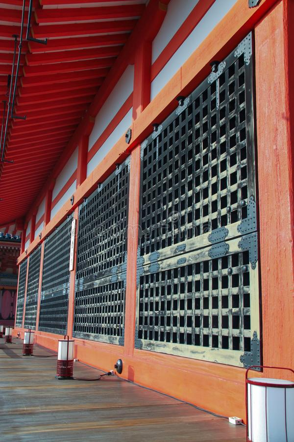 Murs rustiques de temple de Kiyomizu-dera image stock