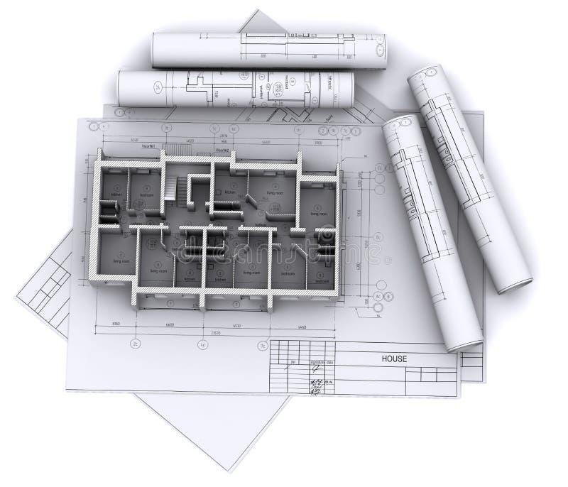 Murs sur des retraits de construction illustration stock