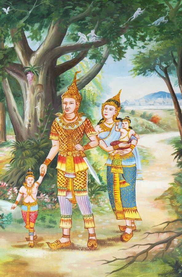 Murs thaïs de temple. image libre de droits