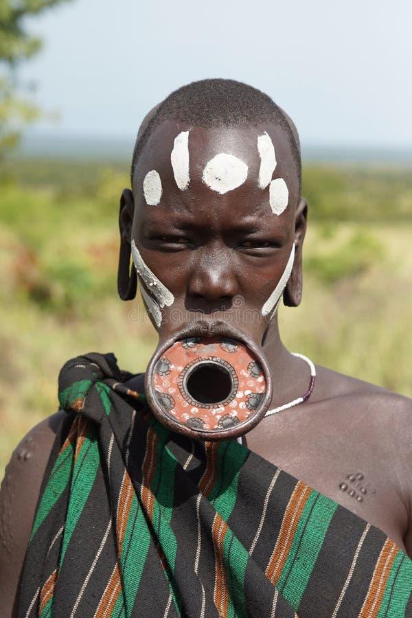 Mursi, Ethiopie, Afrique images libres de droits