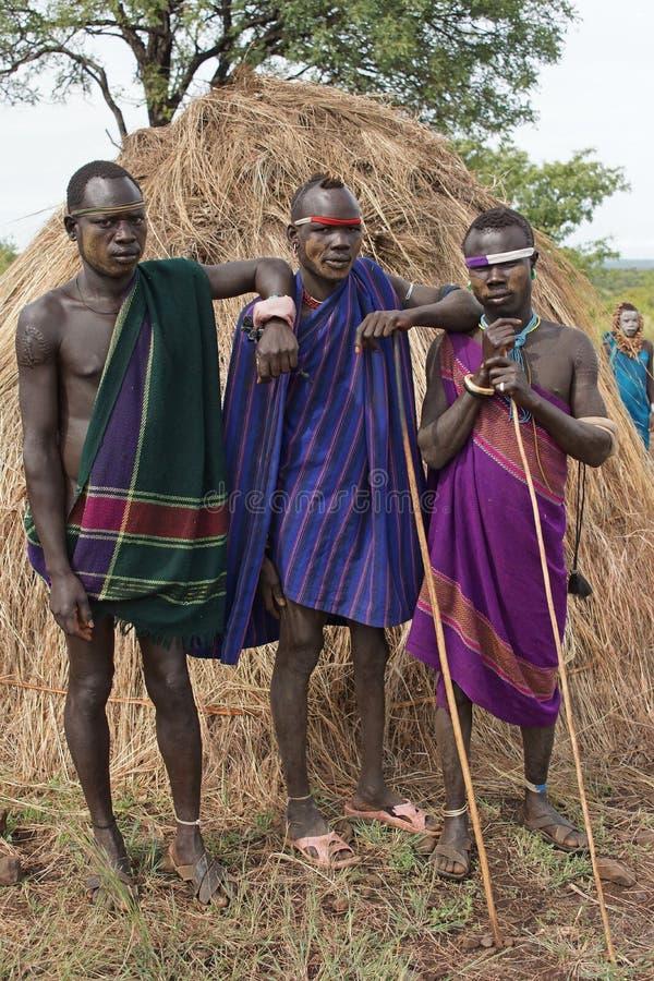 Mursi, Ethiopie, Afrique images stock