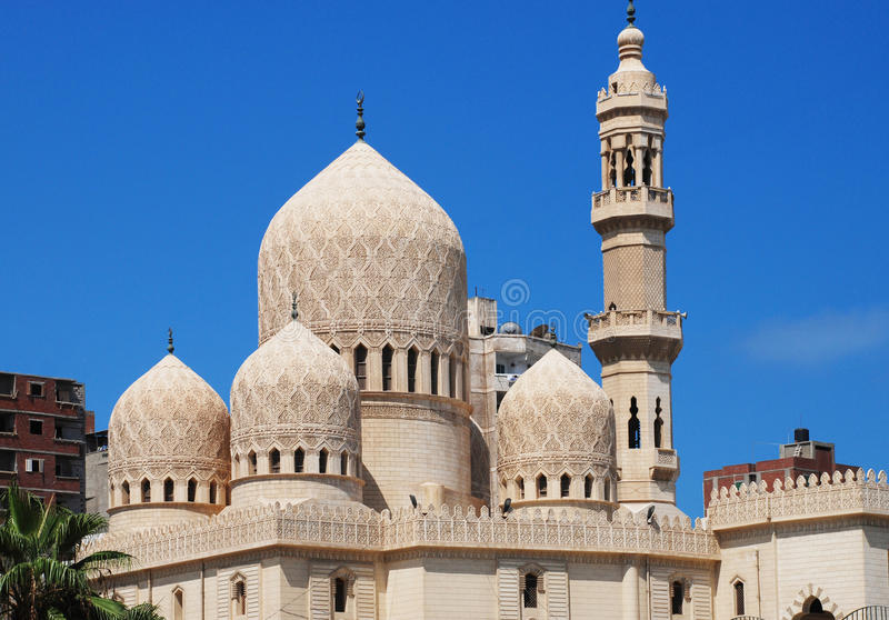 mursi för moské för abbas abual arkivfoton