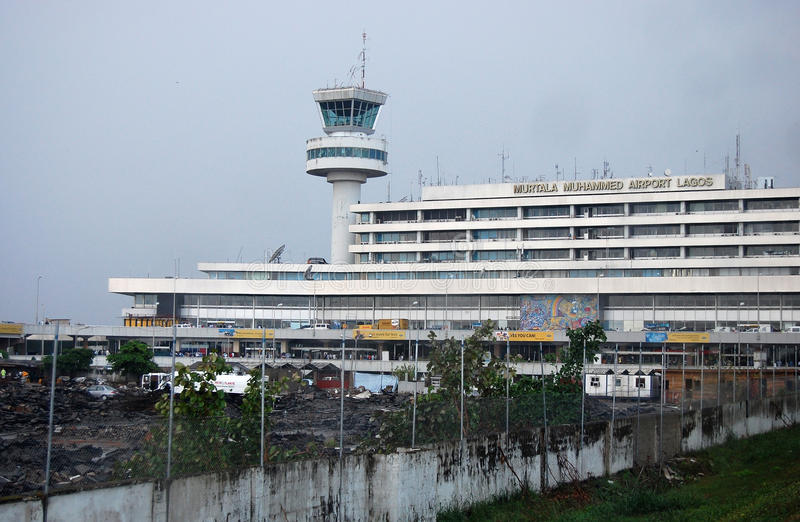 Murtala Mohammed International Airport Nigeria arkivfoto