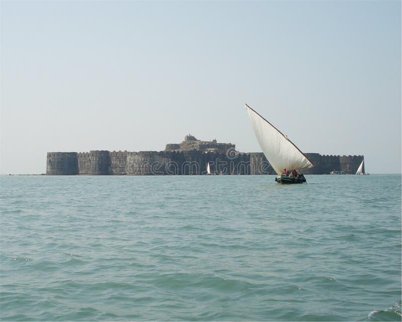 Murud Janjira fort royaltyfria foton