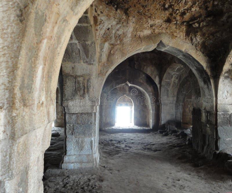 Murud Janjira fort at Alibag, India. Fort built in the ocean at Alibag, India royalty free stock images