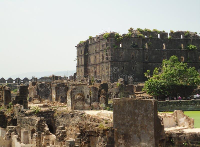 Murud Janjira fort, Alibag Indien royaltyfri fotografi