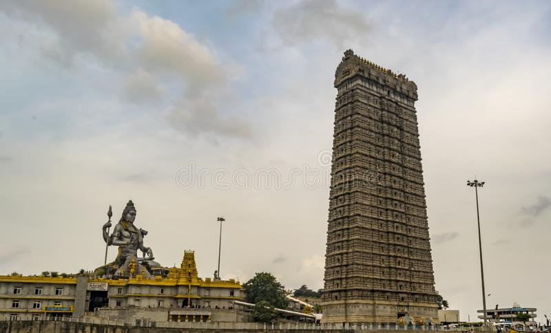 Murudeshwar - Shiva and Temple Tower with sky background royalty free stock photos