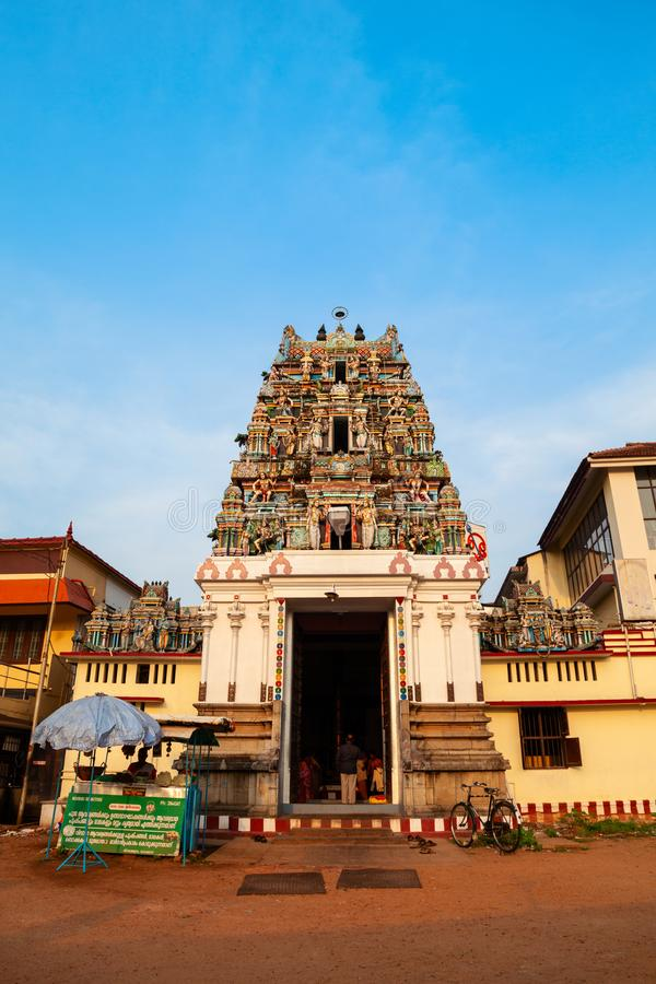 Murugan Shiva Temple i Cochin, Indien arkivfoto