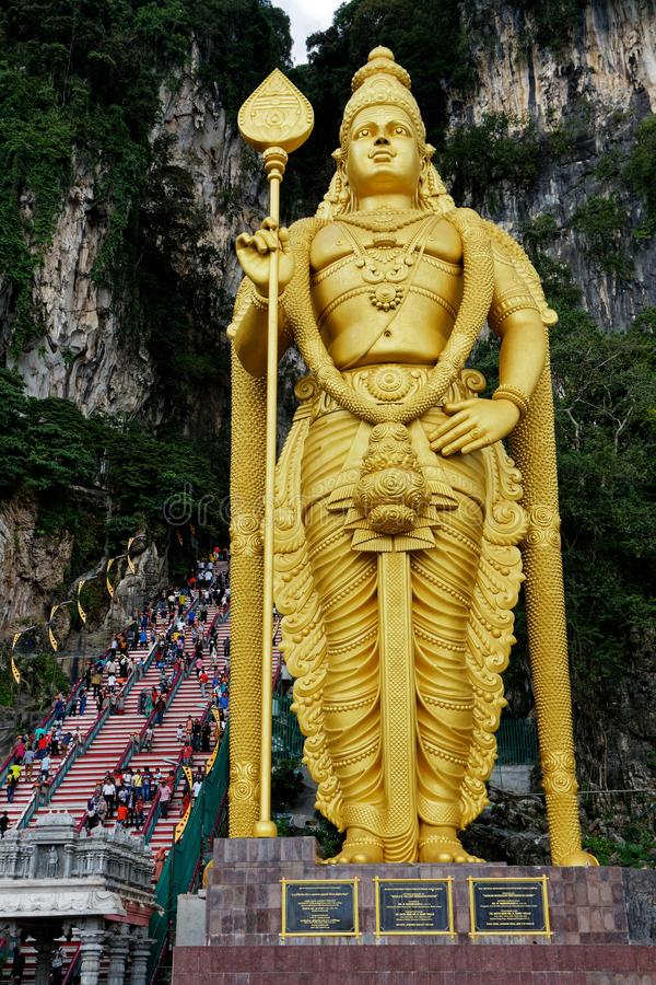 Murugan Statue,巴图洞,吉隆坡,马来西亚阁下 免版税库存图片